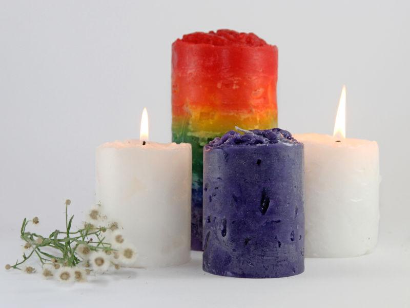 candles - chakra, citronella, lavender